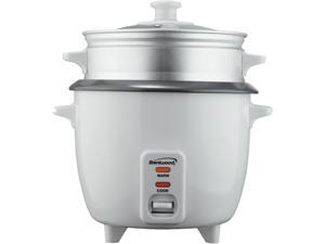 Brentwood TS-700S 4 Cup - 0.8 Liter - Rice Cooker with Steamer - White Body