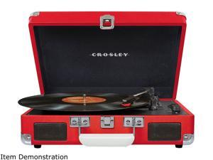 Crosley Cruiser Deluxe Portable Bluetooth Turntable, Red, CR8005D-RE