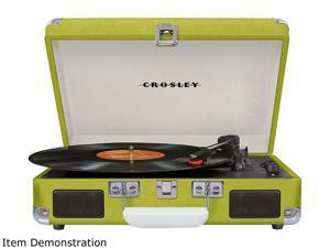 Crosley Cruiser Deluxe Portable Bluetooth Turntable, GREEN, CR8005D-GR