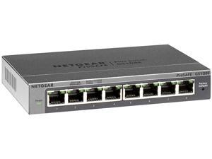 NetGear GS108E-300NAS Gigabit Ethernet Smart Managed Plus Switch Ethernet Switch