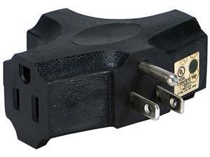 Black 3-Outlet 3-Prong AC Plug