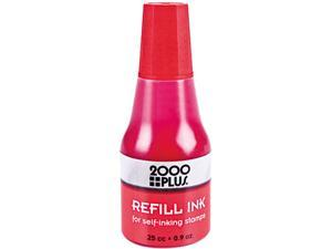 2000 PLUS 2000 PLUS Self-Inking Refill Ink, Red, .9 oz. Bottle