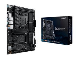 ASUS AMD AM4 PRO WS X570-ACE ATX Workstation Motherboard with 3 PCIe 4.0 x16, Realtek and Intel Gigabit LAN, DDR4 ECC Memory Support, Dual M.2, U.2, and ASUS Control Center Express