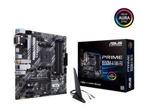ASUS Prime B550M-A WiFi AMD AM4 (3rd Gen Ryzen) Micro ATX Motherboard (PCIe 4.0, WiFi 6, ECC Memory, 1Gb LAN, HDMI 2.1/D-Sub, 4K@60HZ, Addressable Gen 2 RGB Header and Aura Sync)