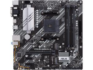 ASUS Prime B550M-A/CSM AMD AM4 (3rd Gen Ryzen) microATX Commercial Motherboard (PCIe 4.0, ECC Memory, 1Gb LAN, HDMI 2.1/D-Sub, 4K@60HZ, TPM, ASUS Control Center Express)