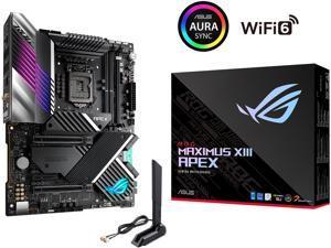 ASUS ROG Maximus XIII Apex (WiFi 6E) Z590 LGA 1200 (Intel 11th/10th Gen) ATX Gaming Motherboard (PCIe 4.0, 18 Power Stages, Intel 2.5 Gb Ethernet, 4 x M.2, USB 3.2 Gen 2x2, Aura Sync RGB)