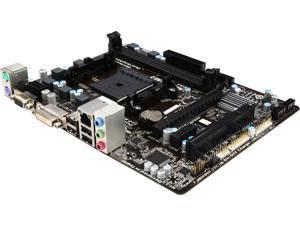 GIGABYTE GA-F2A55M-DS2 FM2 AMD A55 (Hudson D2) Micro ATX AMD Motherboard with UEFI BIOS - Certified Refurbished