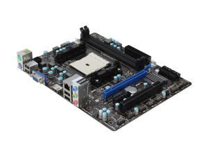 MSI FM2-A55M-E33 FM2 AMD A55 (Hudson D2) HDMI Micro ATX AMD Motherboard with UEFI BIOS