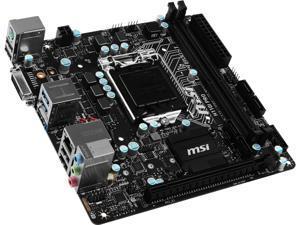 MSI H110I Pro LGA 1151 Intel H110 HDMI SATA 6Gb/s USB 3.1 Mini ITX Intel Motherboard