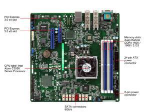ASRock Rack C3558D4U-2OP Micro ATX Server Motherboard 4 core SOC Dual 10 G SFP+