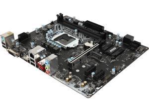 MSI H110M-A PRO M2 LGA 1151 Intel H110 HDMI SATA 6Gb/s USB 3.1 Micro ATX Motherboards - Intel