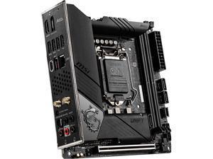 MSI MEG Z490I UNIFY LGA 1200 Intel Z490 SATA 6Gb/s Mini ITX Intel Motherboard