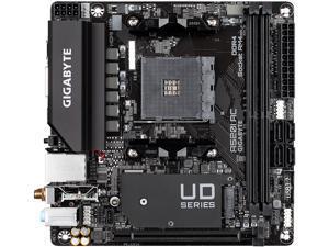GIGABYTE A520I AC mITX AM4 Direct 6 Phases Digital PWM with 55A DrMOS, GIGABYTE Gaming GbE LAN, Intel WiFi+Bluetooth, NVMe PCIe 3.0 x4 M.2, 3 Display Interfaces, Q-Flash Plus, Motherboard