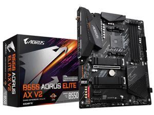 GIGABYTE B550 AORUS ELITE AX V2 AM4 AMD B550 ATX Motherboard with Dual M.2, SATA 6Gb/s, USB 3.2 Gen 2, 2.4/5 GHz Dual-Band, 2.5 GbE LAN, PCIe 4.0