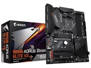 GIGABYTE B550 AORUS ELITE V2 AM4 AMD B550 ATX Motherboard with Dual M.2, SATA 6Gb/s, USB 3.2 Gen 2, 2.5 GbE LAN, PCIe 4.0