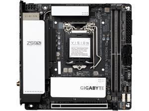GIGABYTE Z590I VISION D LGA 1200 Intel Z590 SATA 6Gb/s Mini ITX Intel Motherboard