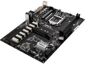 ASRock H110 Pro BTC+ LGA 1151 Intel H110 SATA 6Gb/s ATX Intel for Cryptocurrency Mining (BTC) Motherboard