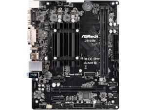ASRock J4105M Intel Celeron Quad-Core Processor J4105 (up to 2.5 GHz) Micro ATX Motherboard/CPU Combo