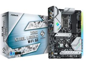 ASRock Z590 Steel Legend WiFi 6E LGA 1200 Intel Z590 SATA 6Gb/s ATX Intel Motherboard