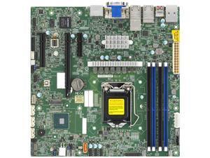 SUPERMICRO MBD-X12SCZ-TLN4F-O Micro ATX Server Motherboard LGA 1200 Intel W480E