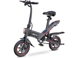 GYROOR C3 450W Folding Electric Bike for Adult, Commuter E-Bike, 14in Air-Filled Tires, 3 Riding Modes, Dual Disc Braking