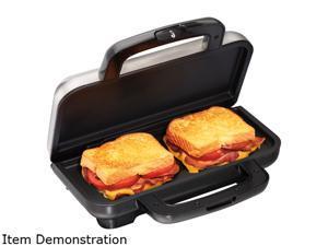 Proctor Silex Deluxe Hot Sandwich Maker, Nonstick Plates, Stainless Steel 25415
