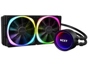 NZXT Kraken X53 RGB 240mm - RL-KRX53-R1 - AIO RGB CPU Liquid Cooler - Rotating Infinity Mirror Design - Improved Pump - Powered By CAM V4 - RGB Connector - Aer RGB V2 120mm Radiator Fans (2 Included)