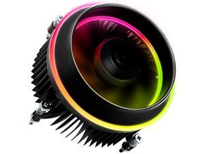 darkFlash Shadow PWM Aluminum CPU Cooler LED Addressable RGB Motherboard Cooling Fan for Intel Core i7/i5/i3