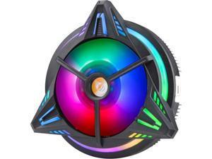 Vicabo CPU Cooler Fans Heatsink Air Cooler LED RGB Lighting for AMD/775/1150/1151/1155/1156