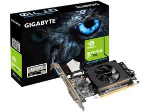 GIGABYTE GeForce GT 710 DirectX 12 GV-N710D3-2GL 1.0 2GB 64-Bit DDR3 PCI Express 2.0 x8 Low Profile Video Card