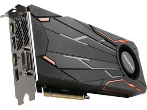 GIGABYTE GeForce GTX 1080 DirectX 12 GV-N1080TTOC-8GD 8GB 256-Bit GDDR5X PCI Express 3.0 x16 SLI Support ATX Turbo OC Video Card