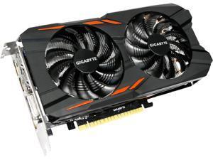GIGABYTE GeForce GTX 1050 Ti DirectX 12 GV-N105TWF2OC-4GD 4GB 128-Bit GDDR5 PCI Express 3.0 x16 ATX Video Card