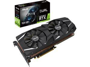 ASUS Dual GeForce RTX 2080 Ti DirectX 12 DUAL-RTX2080TI-11G 11GB 352-Bit GDDR6 PCI Express 3.0 HDCP Ready SLI Support Video Card