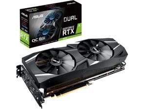 ASUS Dual GeForce RTX 2070 DirectX 12 DUAL-RTX2070-O8G 8GB 256-Bit GDDR6 PCI Express 3.0 HDCP Ready Video Card