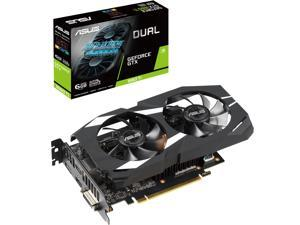 ASUS Dual GeForce GTX 1660 Ti DUAL-GTX1660TI-6G 6GB 192-Bit GDDR6 PCI Express 3.0 HDCP Ready Video Card