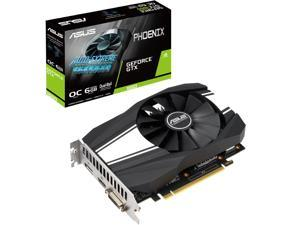 ASUS GeForce GTX 1660 Overclocked 6GB Phoenix Fan Edition HDMI DP DVI Graphics Card (PH-GTX1660-O6G)