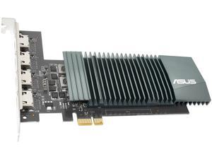 ASUS NVIDIA GeForce GT 710 Graphics Card (PCIe 2.0, 2GB GDDR5 Memory, 4 x HDMI Ports, Single-slot Design, Passive Cooling)