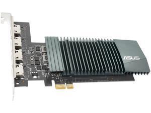 ASUS NVIDIA GeForce GT 710 Graphics Card (PCIe 2.0, 2GB GDDR5 Memory, 4 x HDMI Ports, Single-slot Design, Passive Cooling)
