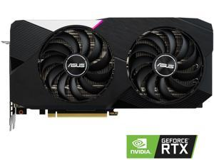 ASUS Dual GeForce RTX 3060 Ti DirectX 12 Ultimate DUAL-RTX3060TI-8G 8GB 256-Bit GDDR6 PCI Express 4.0 HDCP Ready Video Card