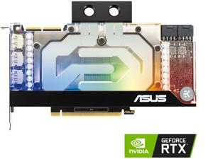 ASUS EKWB GeForce RTX 3090 24GB GDDR6X (PCIe 4.0, 24GB GDDR6X Memory, HDMI 2.1, DisplayPort 1.4a, Auto-Extreme Technology, Protective Backplate, Single-slot Design, and EK Water Block), RTX3090-24G-EK