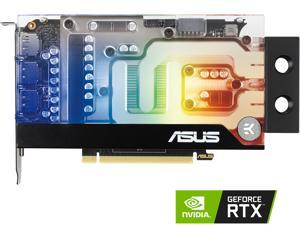 ASUS EKWB GeForce RTX 3070 8GB GDDR6 Video Card (PCIe 4.0, 8GB GDDR6 Memory, HDMI 2.1, DisplayPort 1.4a, Protective Backplate, Stainless Steel Bracket, Single-slot Design, and EK Water Block)