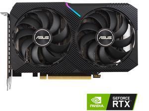 ASUS DUAL GeForce RTX 3060 OC Edition Gaming Graphics Card (PCIe 4.0, 12GB GDDR6 Memory, HDMI 2.1, DisplayPort 1.4a, 2-slot Design, Axial-tech Fan Design, 0dB Technology), DUAL-RTX3060-O12G