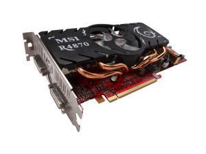 MSI Radeon HD 4870 DirectX 10.1 R4870-T2D1G 1GB 256-Bit GDDR5 PCI Express 2.0 x16 HDCP Ready CrossFireX Support Video Card