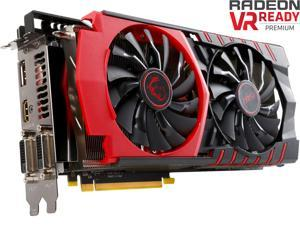 MSI Radeon R9 390 DirectX 12 R9 390 GAMING 8G 8GB 512-Bit GDDR5 PCI Express 3.0 HDCP Ready CrossFireX Support Video Card
