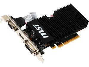 MSI GeForce GT 710 DirectX 12 GT 710 1GD3H LPV1 1GB 64-Bit DDR3 PCI Express 2.0 x8 HDCP Ready Low Profile Video Card