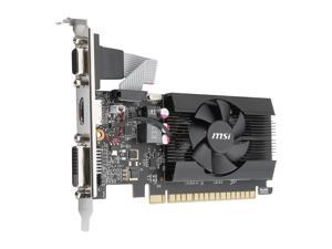 MSI GeForce GT 710 DirectX 12 GT 710 2GD3 LP 2GB 64-Bit DDR3 PCI Express 2.0 HDCP Ready Low Profile Video Card