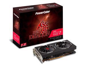 PowerColor RED DRAGON Radeon RX 5500 XT DirectX 12 AXRX 5500 XT 8GBD6-DHR/OC 8GB 128-Bit GDDR6 PCI Express 4.0 CrossFireX Support ATX Video Card
