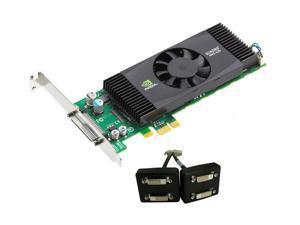 PNY Quadro NVS 420 VCQ420NVS-X1-DVI-PB 512MB (256MB per GPU) 128-bit (64-bit per GPU) GDDR3 PCI Express x1 Low Profile Workstation Video Card
