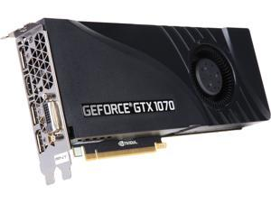 PNY GeForce GTX 1070 DirectX 12 VCGGTX10708PB 8GB 256-Bit GDDR5 PCI Express 3.0 x16 SLI Support Video Card