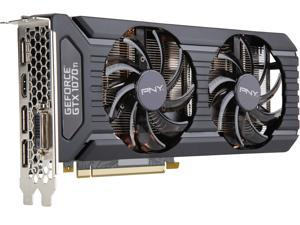 PNY GeForce GTX 1070 Ti DirectX 12 VCGGTX1070T8PB-BB 8GB 256-Bit GDDR5 PCI Express 3.0 x16 SLI Support Video Card